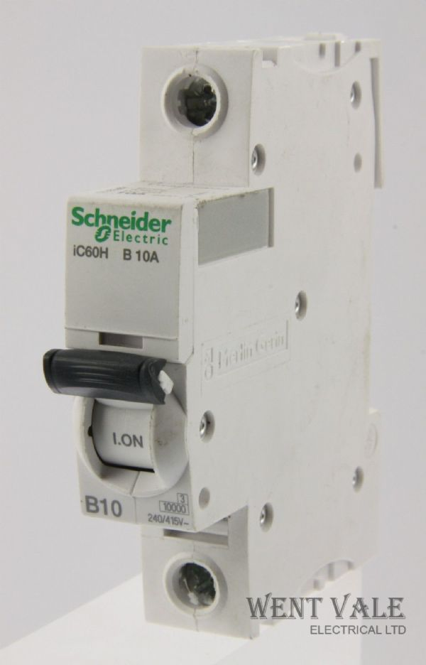 Schneider IC60HB110 - 10a Type B Single Pole MCB Latest Model Used